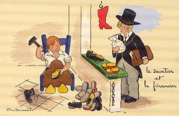 Le financier et le savetier